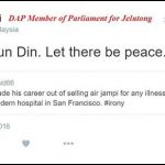 Adios, Jeff Ooi. Let there be peace…